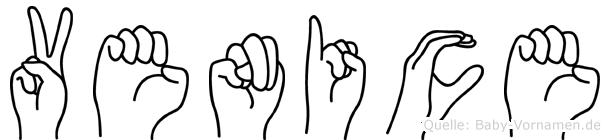 Venice in Fingersprache für Gehörlose