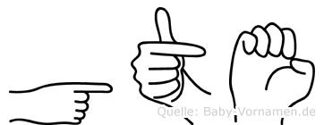 Göte in Fingersprache für Gehörlose