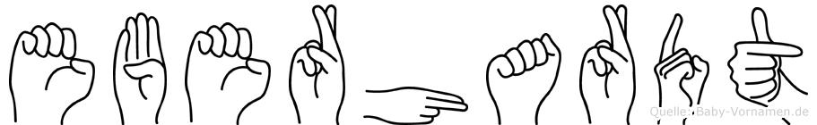 Eberhardt in Fingersprache für Gehörlose