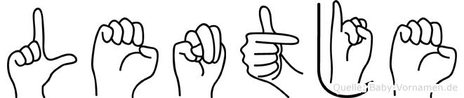 Lentje in Fingersprache für Gehörlose