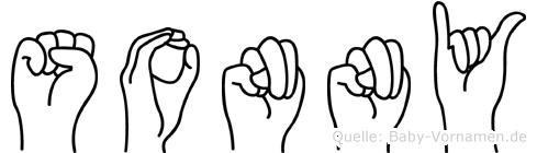 Sonny im Fingeralphabet der Deutschen Gebärdensprache