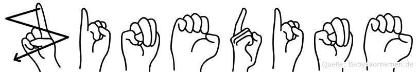 Zinedine in Fingersprache für Gehörlose