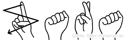 Zara in Fingersprache für Gehörlose