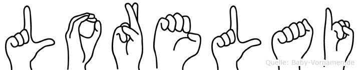 Lorelai im Fingeralphabet der Deutschen Gebärdensprache