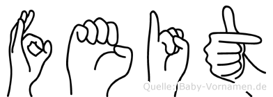 Feit im Fingeralphabet der Deutschen Gebärdensprache
