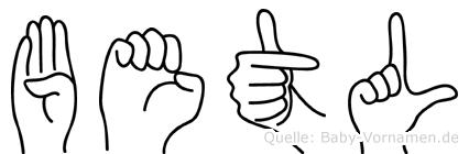 Betül im Fingeralphabet der Deutschen Gebärdensprache