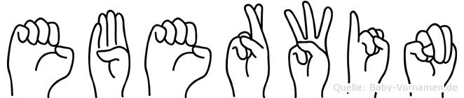 Eberwin in Fingersprache für Gehörlose