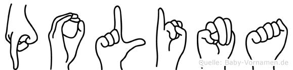 Polina in Fingersprache für Gehörlose