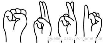 Suri in Fingersprache für Gehörlose