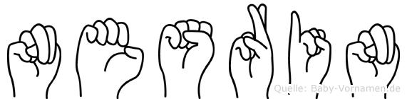 Nesrin im Fingeralphabet der Deutschen Gebärdensprache