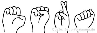 Esra im Fingeralphabet der Deutschen Gebärdensprache