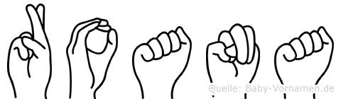 Roana im Fingeralphabet der Deutschen Gebärdensprache
