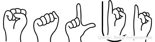 Salji im Fingeralphabet der Deutschen Gebärdensprache