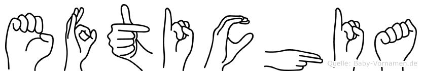 Eftichia in Fingersprache für Gehörlose