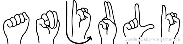 Anjuli im Fingeralphabet der Deutschen Gebärdensprache