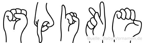 Spike in Fingersprache für Gehörlose