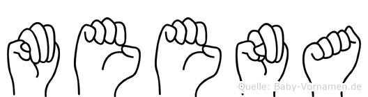 Meena in Fingersprache für Gehörlose