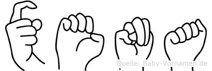 Xena in Fingersprache für Gehörlose