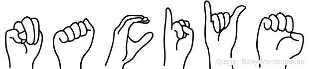 Naciye im Fingeralphabet der Deutschen Gebärdensprache