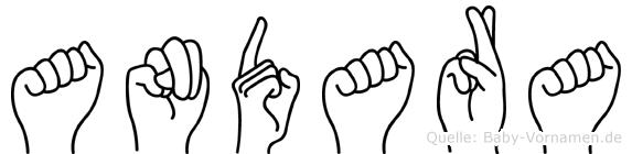 Andara im Fingeralphabet der Deutschen Gebärdensprache