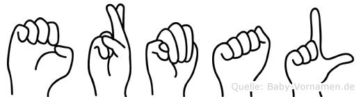 Ermal im Fingeralphabet der Deutschen Gebärdensprache