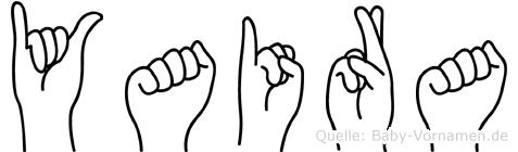 Yaira in Fingersprache für Gehörlose
