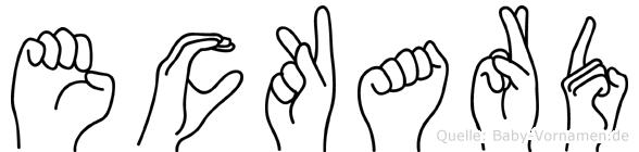 Eckard im Fingeralphabet der Deutschen Gebärdensprache