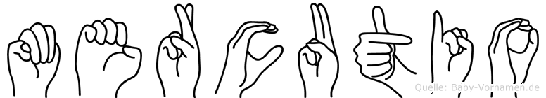 Mercutio im Fingeralphabet der Deutschen Gebärdensprache