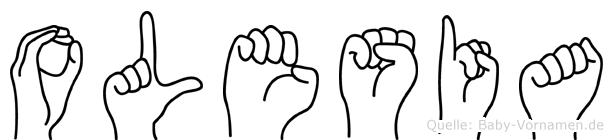 Olesia in Fingersprache für Gehörlose