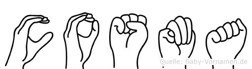 Cosma in Fingersprache für Gehörlose