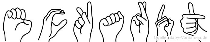 Eckardt in Fingersprache für Gehörlose
