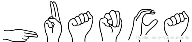 Huanca in Fingersprache für Gehörlose