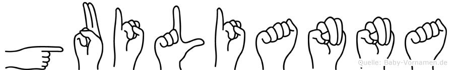 Guilianna in Fingersprache für Gehörlose