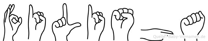 Filisha in Fingersprache für Gehörlose