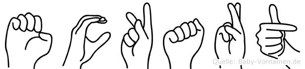 Eckart in Fingersprache für Gehörlose