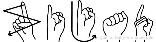 Zijad im Fingeralphabet der Deutschen Gebärdensprache