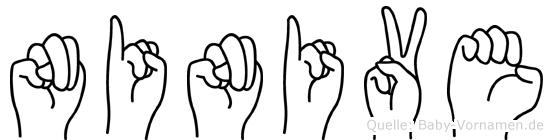 Ninive in Fingersprache für Gehörlose