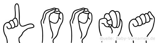Loona in Fingersprache für Gehörlose