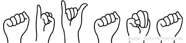 Aiyana in Fingersprache für Gehörlose
