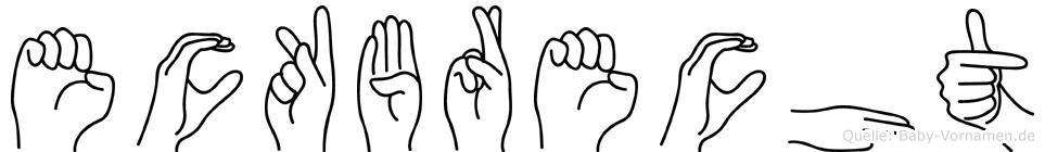 Eckbrecht im Fingeralphabet der Deutschen Gebärdensprache