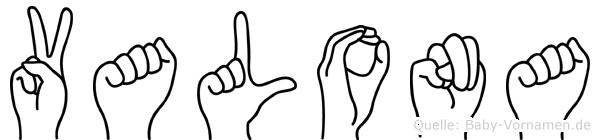 Valona in Fingersprache für Gehörlose