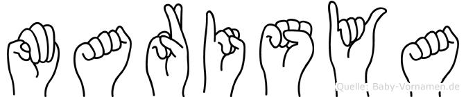 Marisya in Fingersprache für Gehörlose