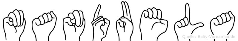 Manduela in Fingersprache für Gehörlose