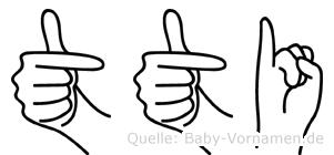 Tüti in Fingersprache für Gehörlose
