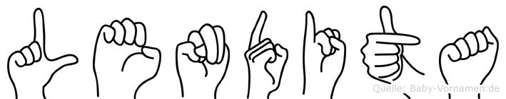 Lendita in Fingersprache für Gehörlose