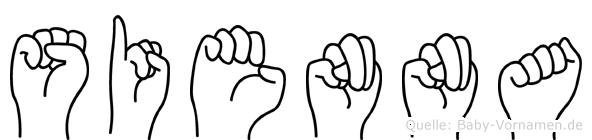 Sienna in Fingersprache für Gehörlose