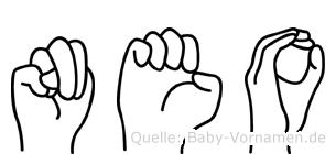 Neo in Fingersprache für Gehörlose
