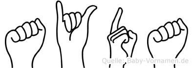 Ayda in Fingersprache für Gehörlose