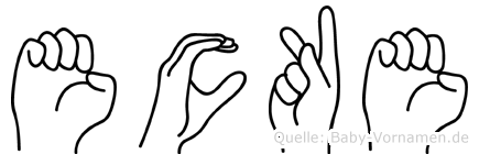 Ecke in Fingersprache für Gehörlose
