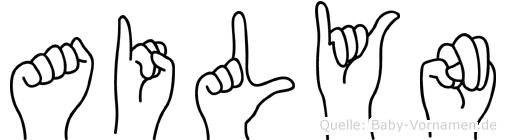 Ailyn im Fingeralphabet der Deutschen Gebärdensprache